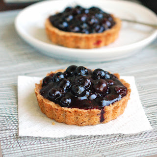 Fresh Blueberry Tarts.