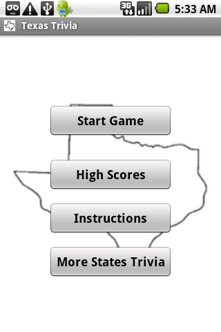 States Trivia - Texas- screenshot