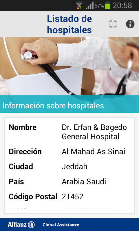 My Travel Doctor: captura de pantalla