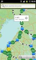 Screenshot of Live train map