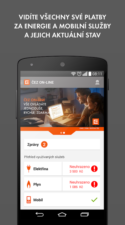 ČEZ ON-LINE- screenshot