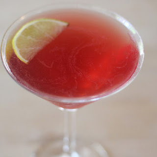 Pomegranate Elderflower Vodka Drink.