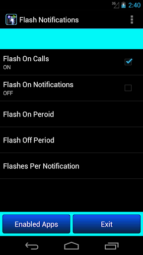 flash on call notifications