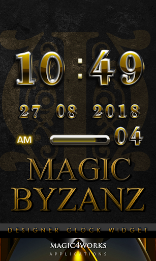 Byzanz Digital Clock Widget