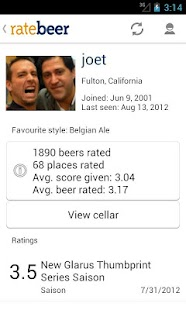 RateBeer - screenshot thumbnail