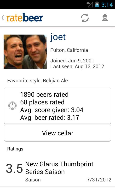 RateBeer for Android - screenshot