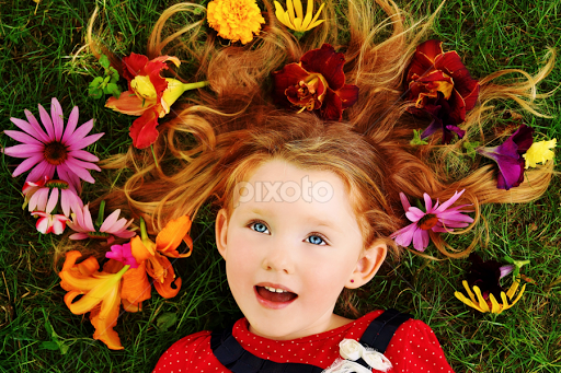 Blossoms In My Hair | Child Portraits | Babies & Children | Pixoto