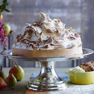 Sweet Potato Cheesecake with Marshmallow Meringue.
