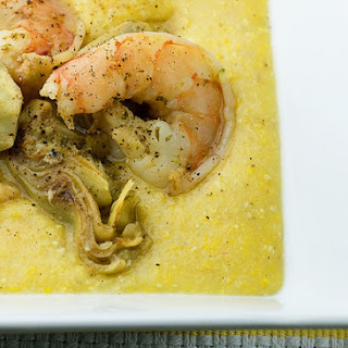 Shrimp and Grits with Artichoke Hearts