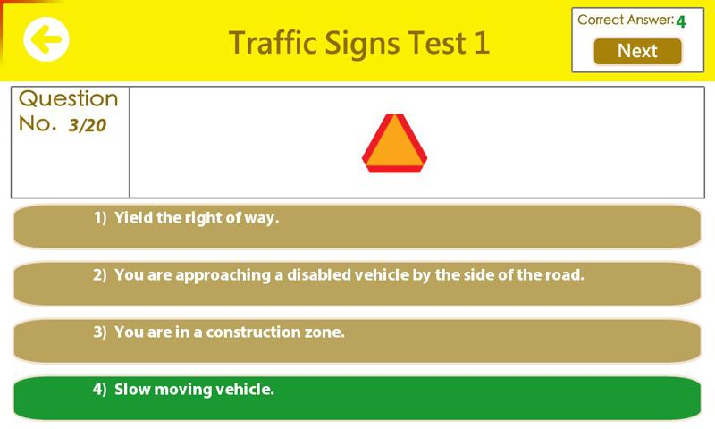 writing driving test