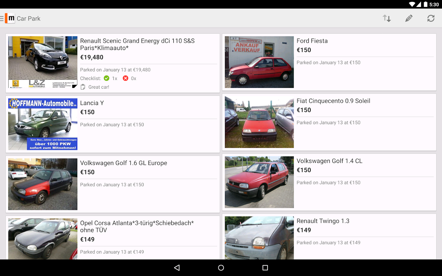 mobile.de – vehicle market - screenshot