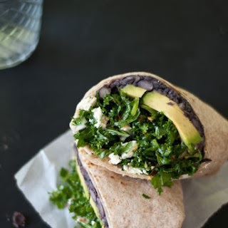 Kale and Black Bean Burritos.
