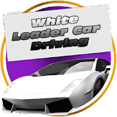 White Leader Car Driving
