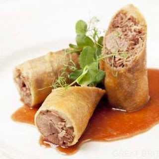 Crispy Duck Spring Rolls with Barbecue Sauce Recipe