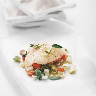 Halibut with Carrots and Leeks.