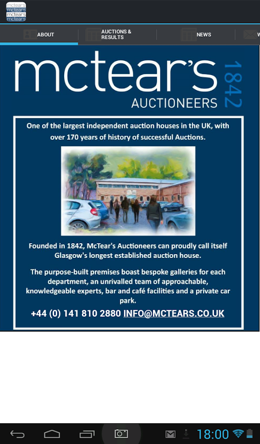 McTear's Auctioneers & Valuers- screenshot