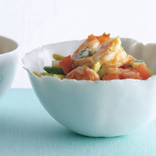 Spicy Adobo Shrimp Cocktail.