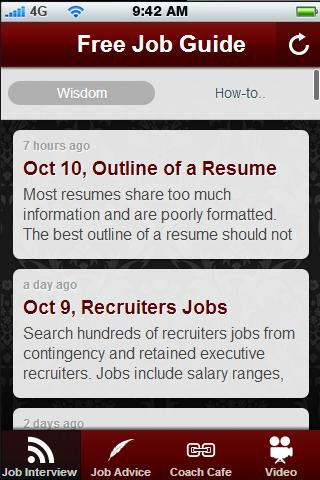 Free Job Search Guide.- screenshot