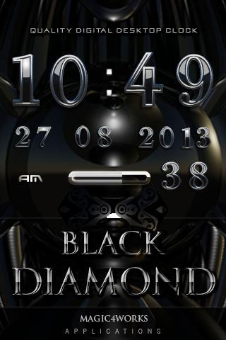 Black Diamond digital Clock