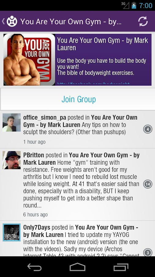 Fitocracy Workout Fitness Log - screenshot