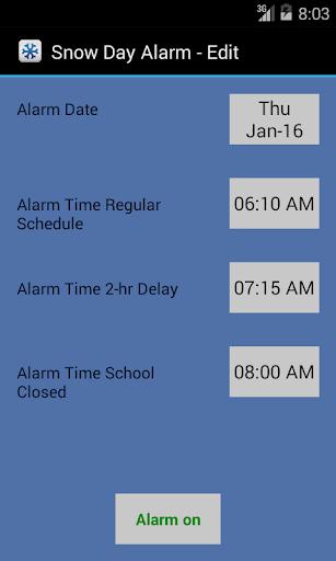 Snow Day Smart Alarm Beta