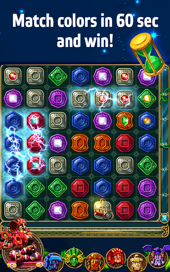 Montezuma Blitz Match 3 Puzzle - screenshot