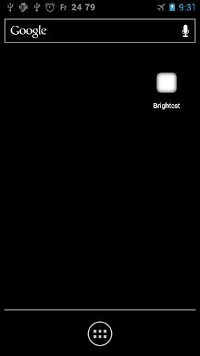 画面輝度最大設定アプリ