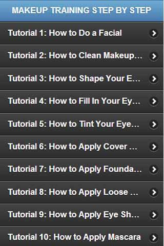 Makeup Training Step by Step
