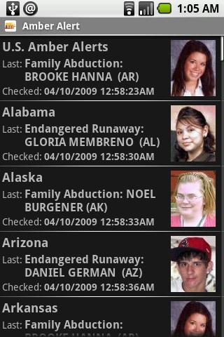 Amber Alert screenshot