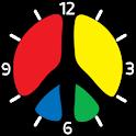 Peace clock icon