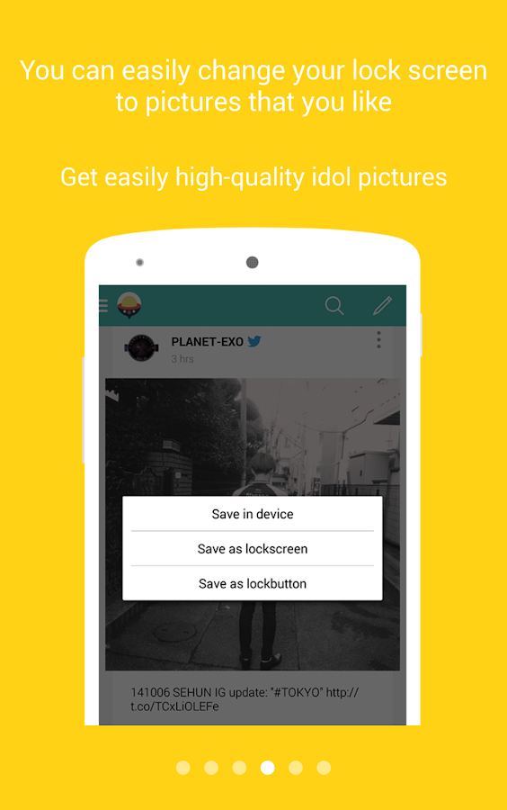 Screenshots of Mydol Space (Idols' SNS) for iPhone