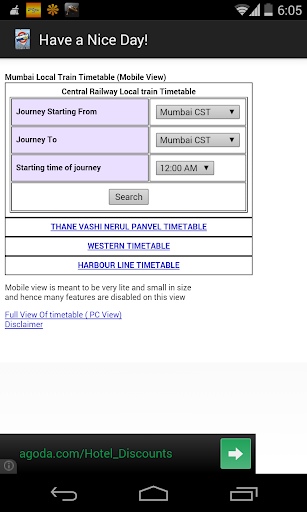 Mumbai Local Trains Time Table