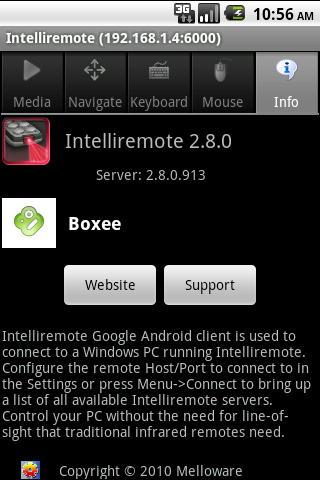 Intelliremote- screenshot