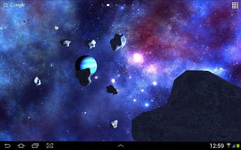 Asteroids 3D live wallpaper screenshot 11