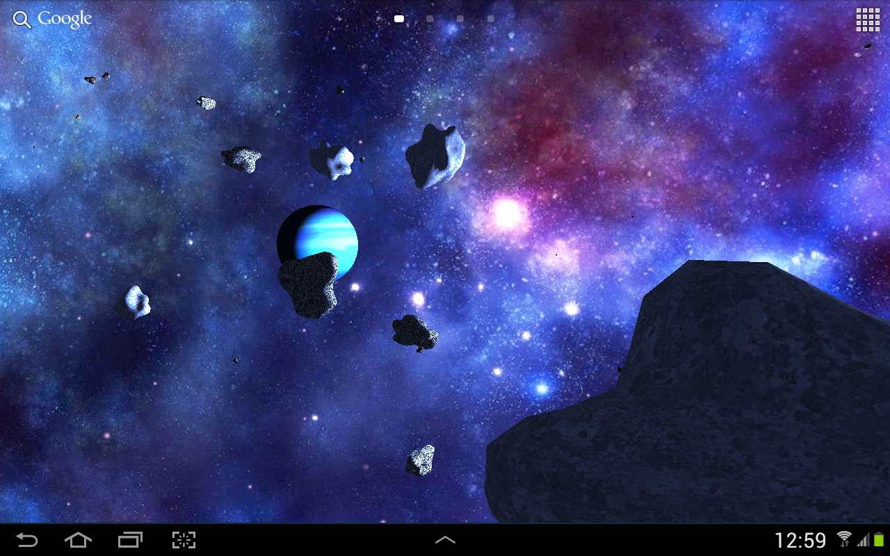 Asteroids 3D Live Wallpaper Android Apps On Google Play