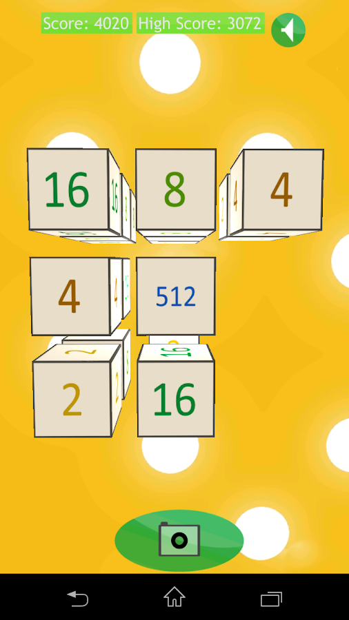 2048 Cubed (3D)- screenshot
