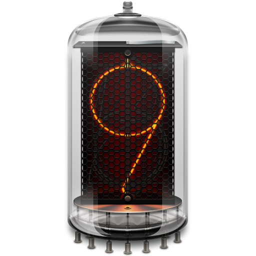 Retro clock. Nixie. Widget