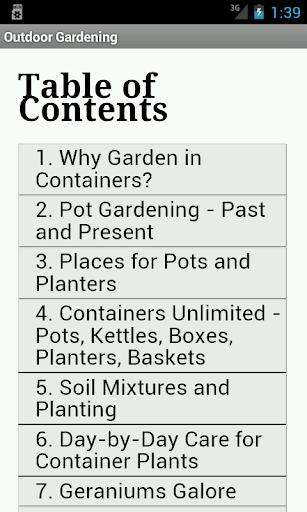 Outdoor Gardening in Pots