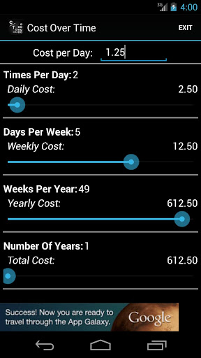 Cost Over Time