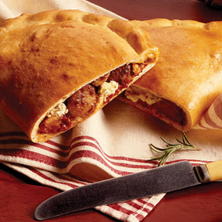 Party-Size Sausage Calzone.