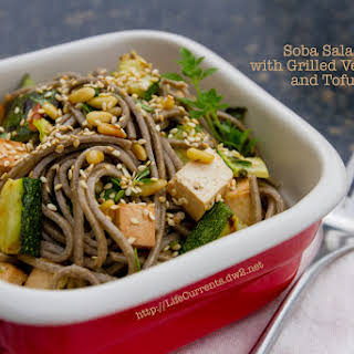 Soba Salad with Grilled Veggies and Tofu.