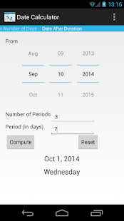 Date Calculator- screenshot thumbnail