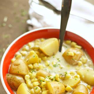 Crockpot Corn and Potato Chowder.
