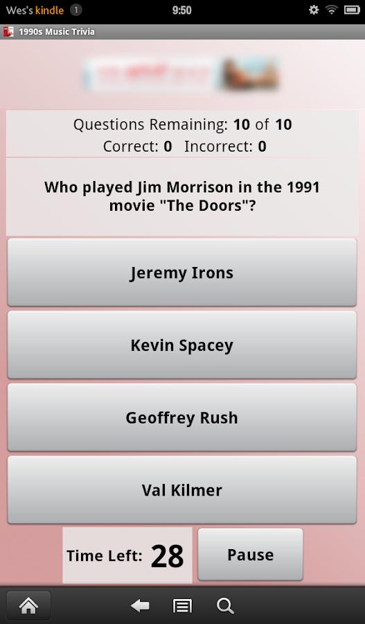 1990s Music Trivia - screenshot