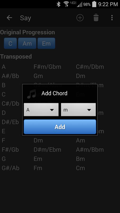 Chord Transposer- screenshot