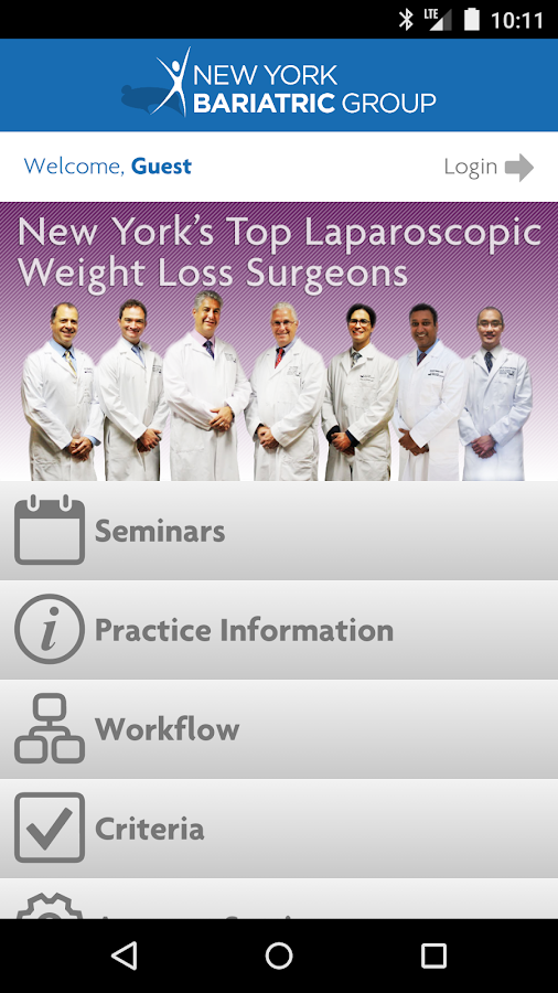New York Bariatric Group- screenshot