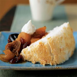 Angel Food Cake with Fall Fruit Compote Recipe