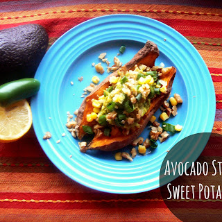 Avocado Stuffed Sweet Potatoes