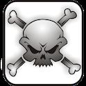 Skull Bones doo-dad bw logo