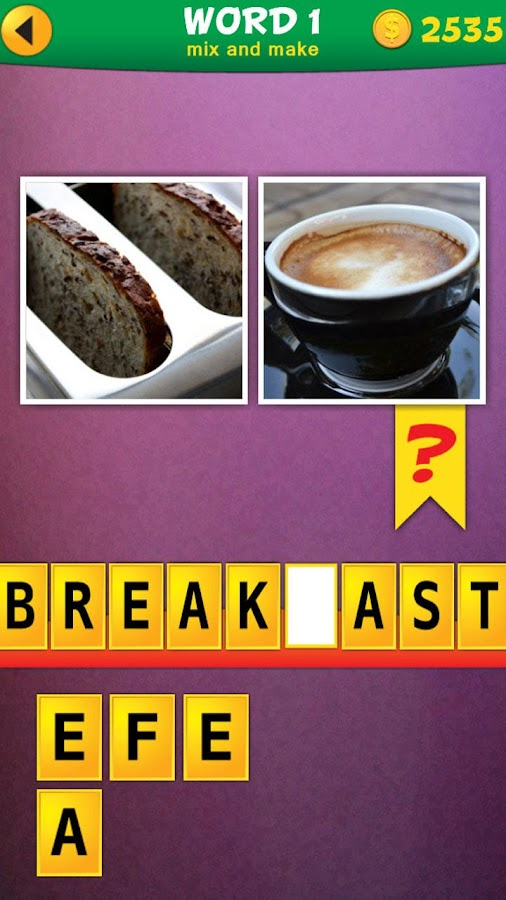 2 Pics 1 Word: Mix Pics Puzzle - screenshot